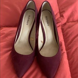 Old Navy burgundy Heels - 7